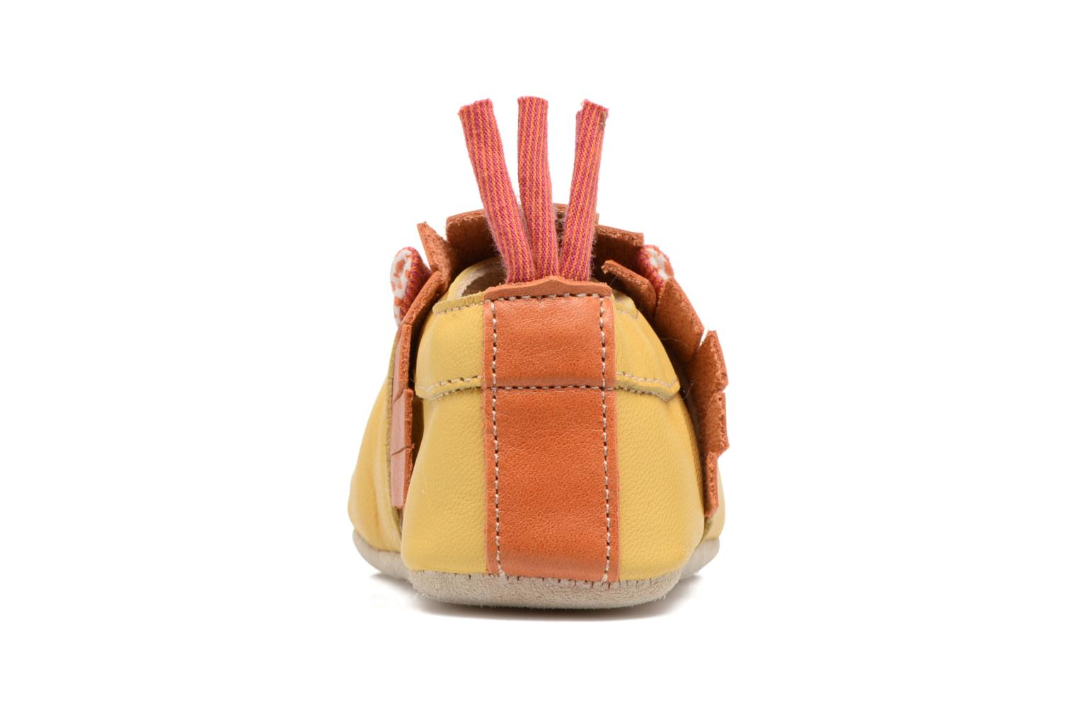 Chaussons Babybotte Lion - Moulin Roty Jaune vue droite