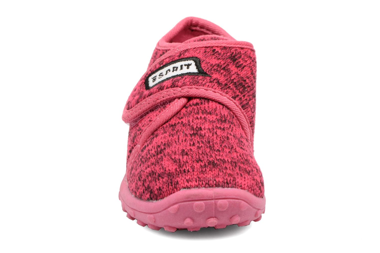 Chaussons Esprit Robin Velcro Rose vue portées chaussures