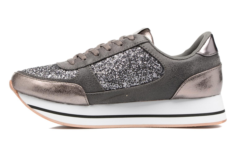 Baskets ONLY Smilla glitter sneaker Gris vue face