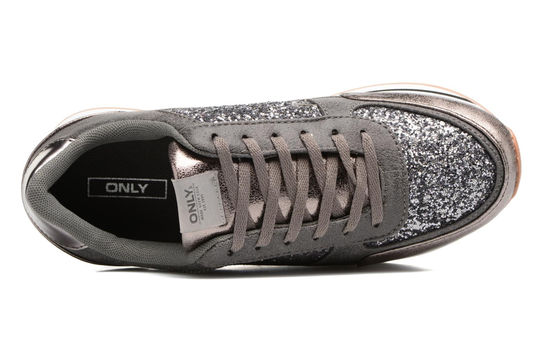 Baskets ONLY Smilla glitter sneaker Gris vue gauche