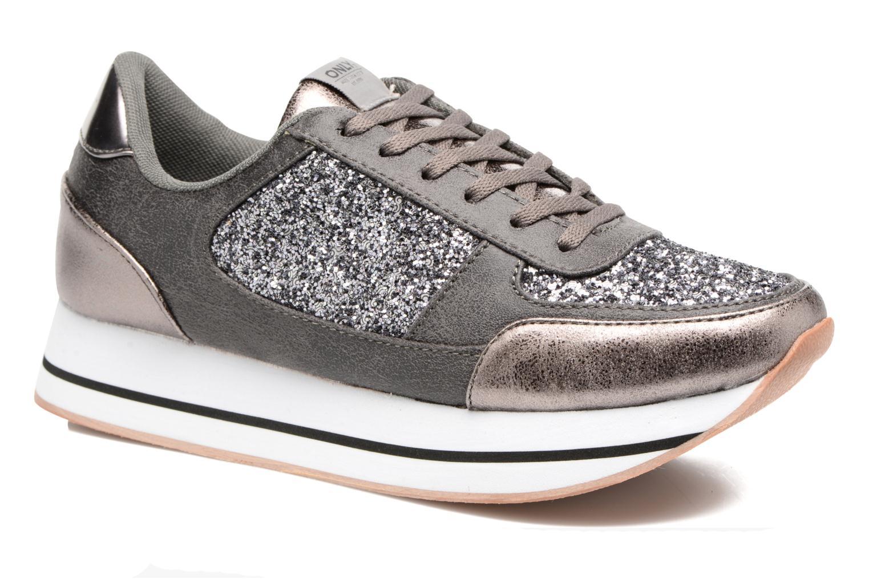 Baskets ONLY Smilla glitter sneaker Gris vue détail/paire