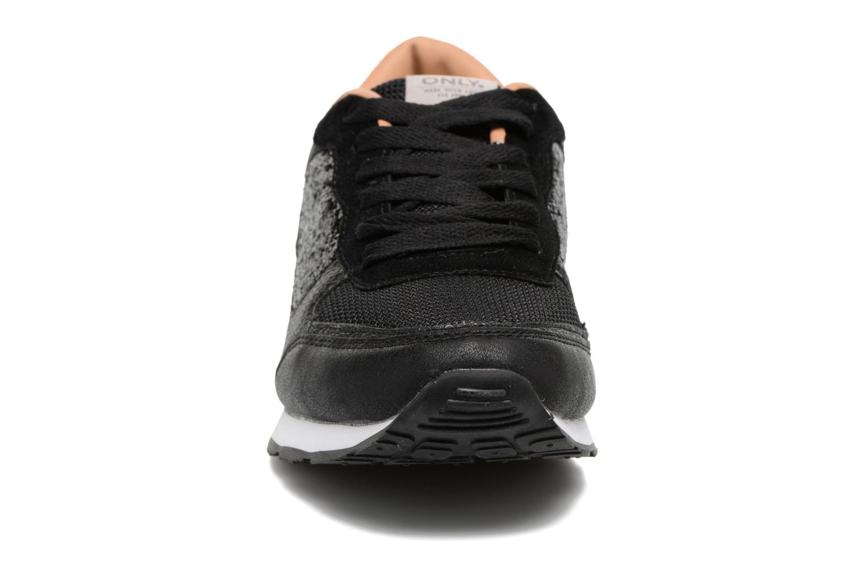 Baskets ONLY Sillie mix sneaker Noir vue portées chaussures