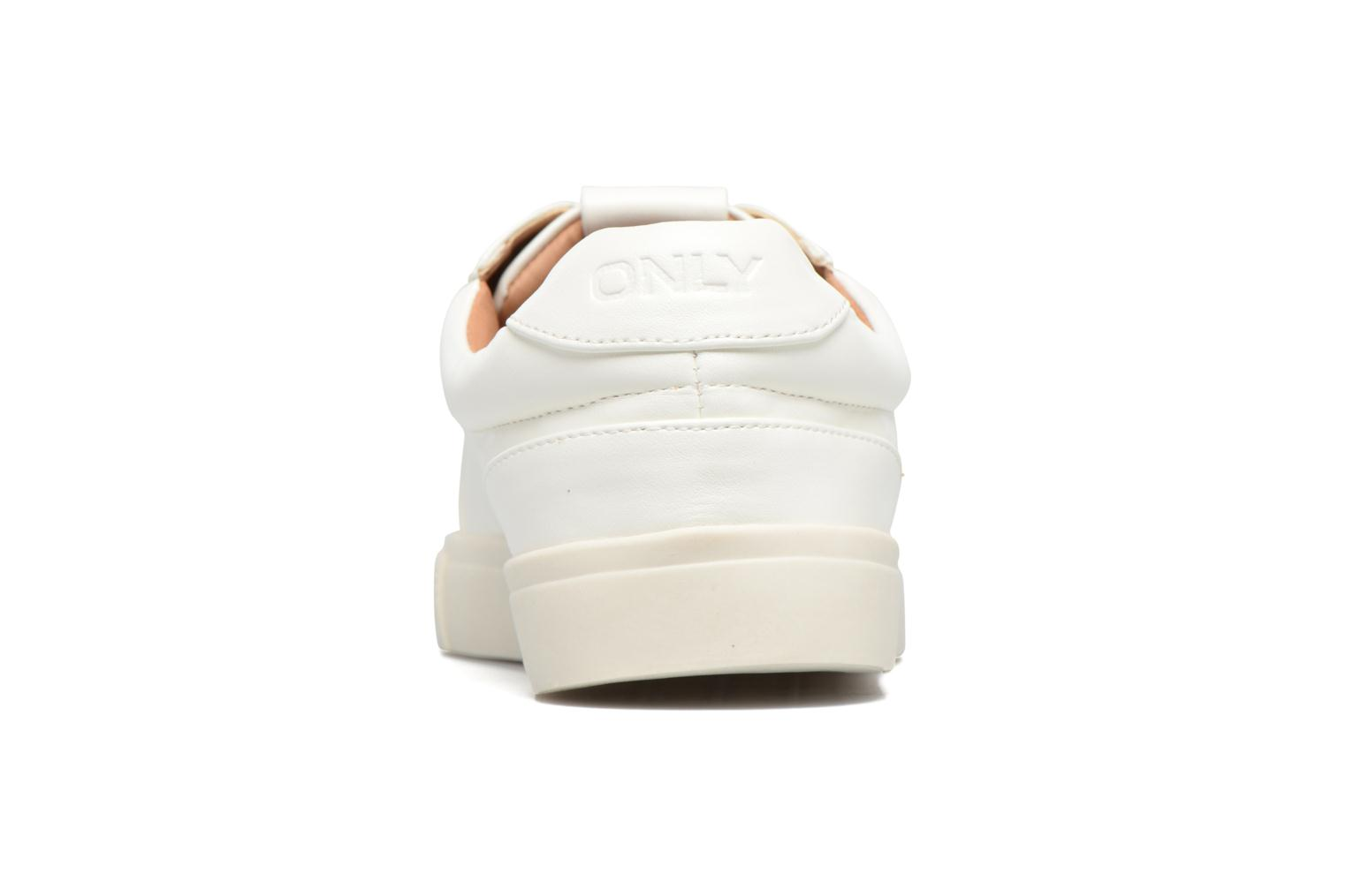 Baskets ONLY Sira skye nude sneaker Blanc vue droite