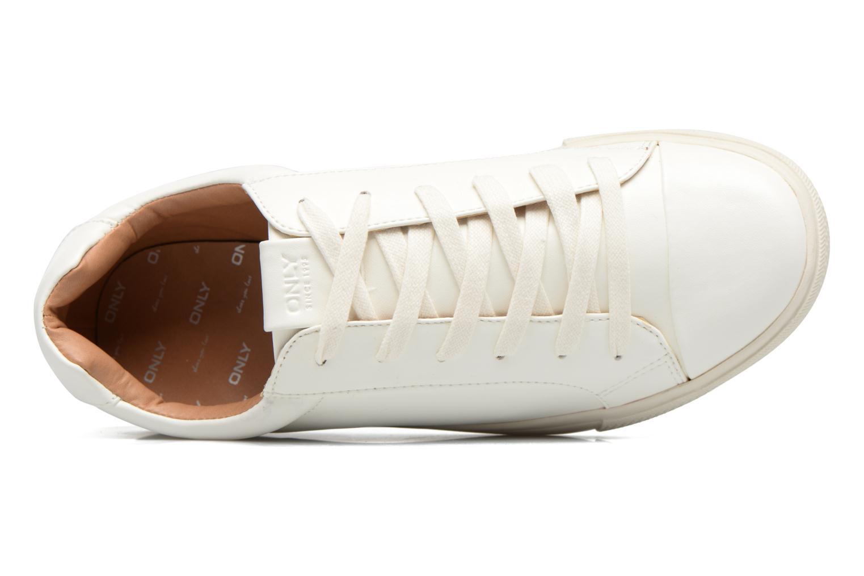 Baskets ONLY Sira skye nude sneaker Blanc vue gauche