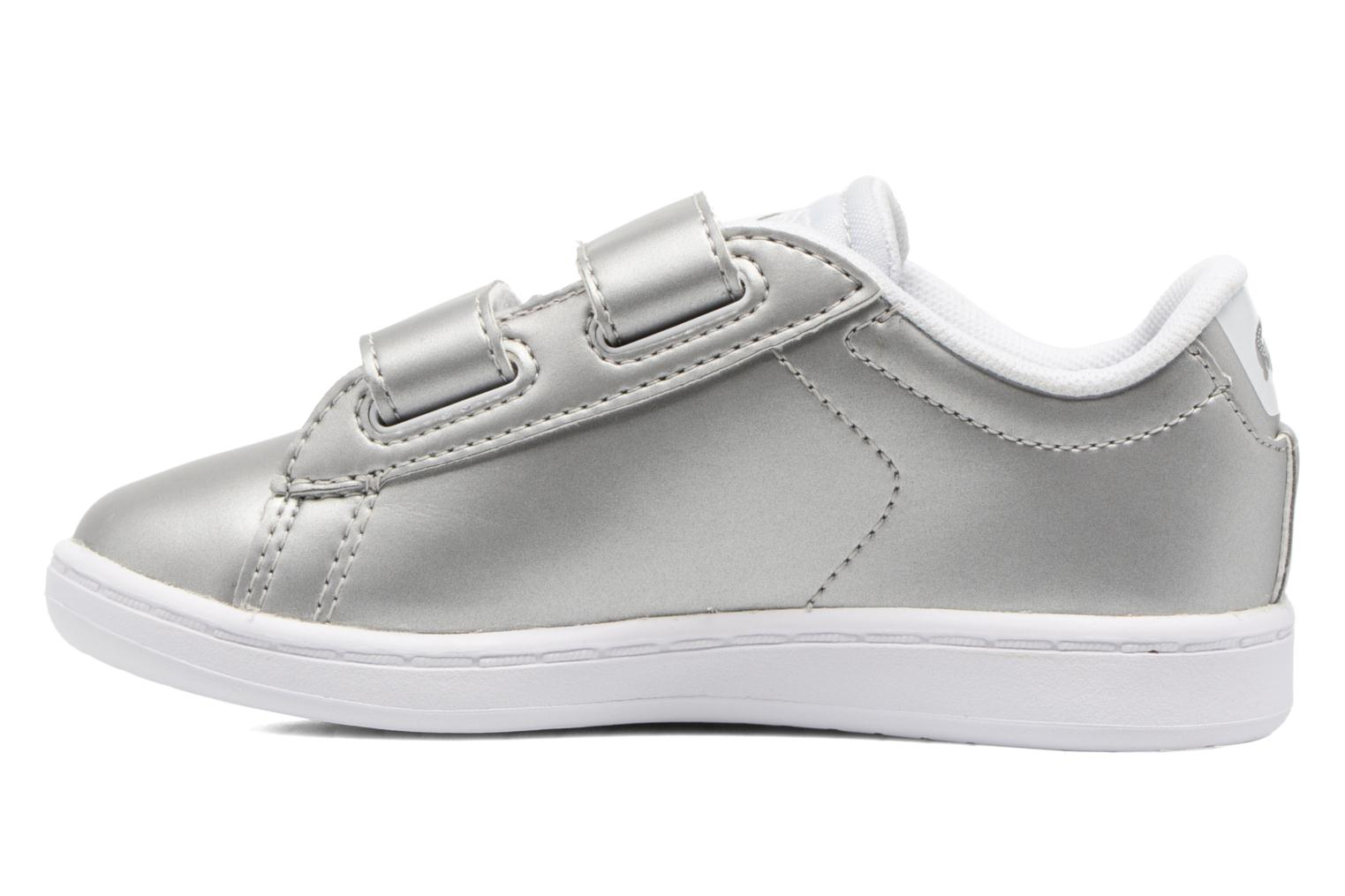 Baskets Lacoste Carnaby Evo 317 6 Argent vue face