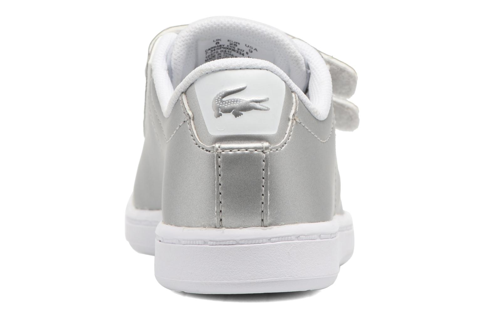 Baskets Lacoste Carnaby Evo 317 6 Argent vue droite