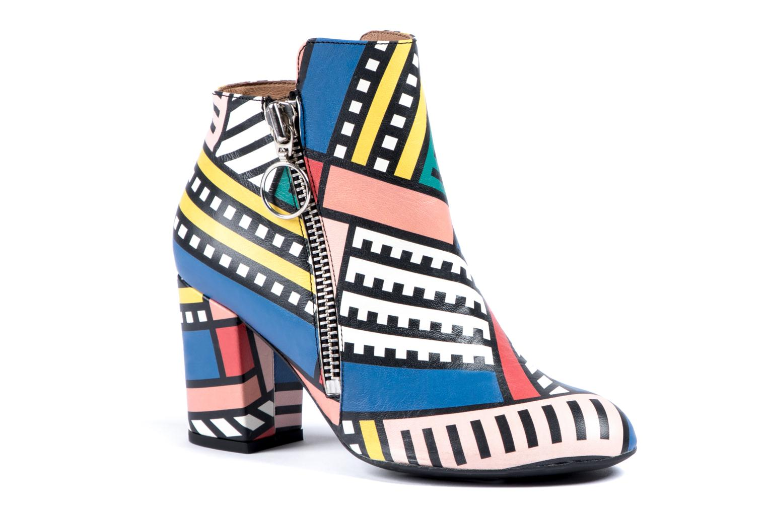 Bottines et boots Made by SARENZA Made by Sarenza X Camille Walala Heeled Boots Multicolore vue gauche