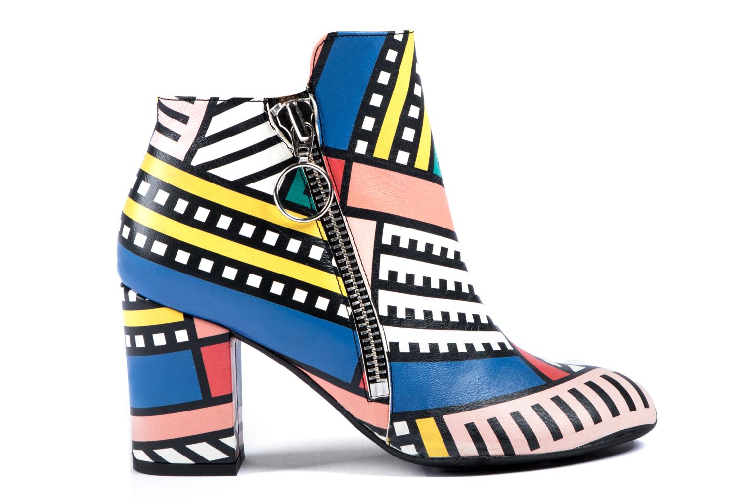 Bottines et boots Made by SARENZA Made by Sarenza X Camille Walala Heeled Boots Multicolore vue détail/paire