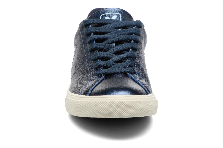 Baskets Veja ESPLAR LT LEATHER Bleu vue portées chaussures