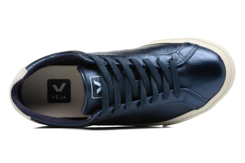 Baskets Veja ESPLAR LT LEATHER Bleu vue gauche