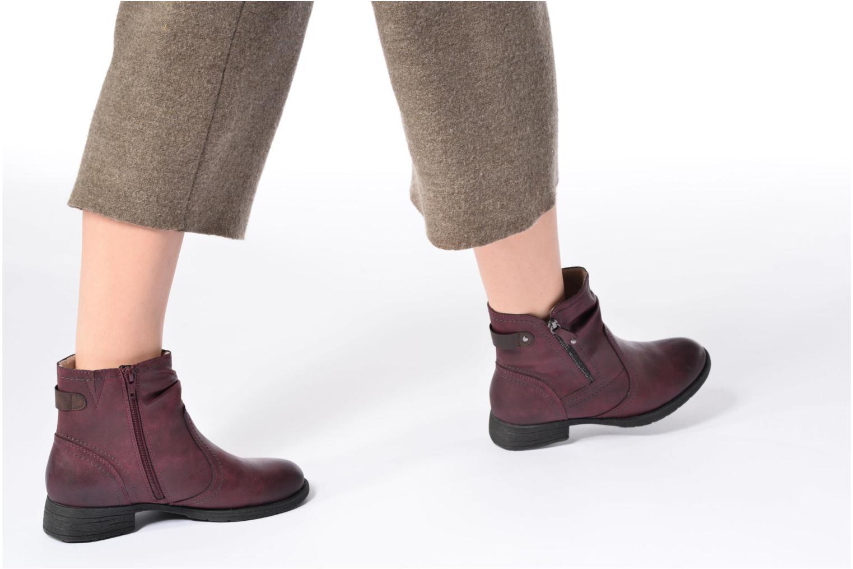 Bottines et boots Jana shoes Tessa Bordeaux vue bas / vue portée sac