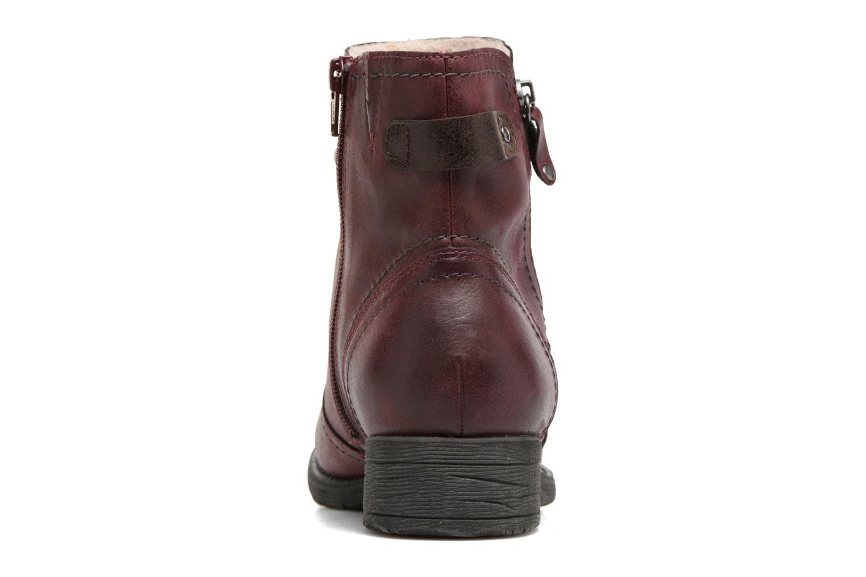 Bottines et boots Jana shoes Tessa Bordeaux vue droite