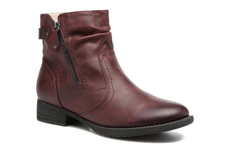 Bottines et boots Jana shoes Tessa Bordeaux vue détail/paire