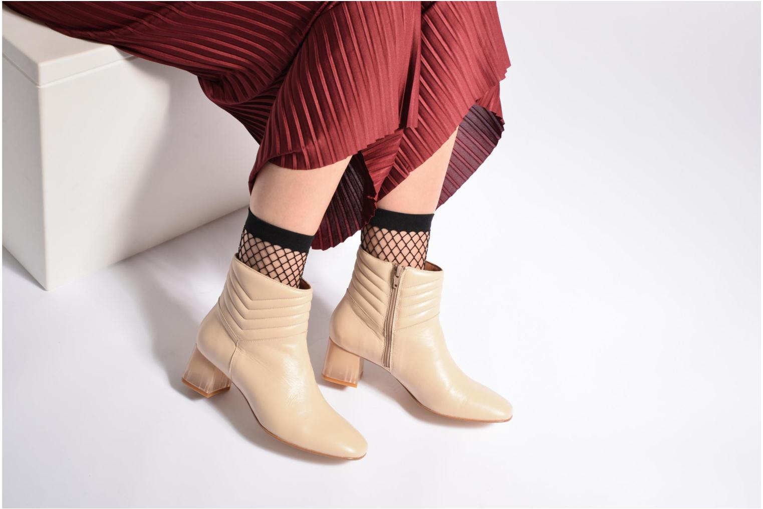 Ankle boots Made by SARENZA Winter Ski #4 White view from underneath / model view