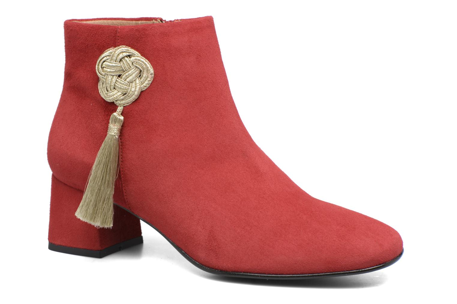 Ankle boots Made by SARENZA Boots Camp #3 Red view from the right