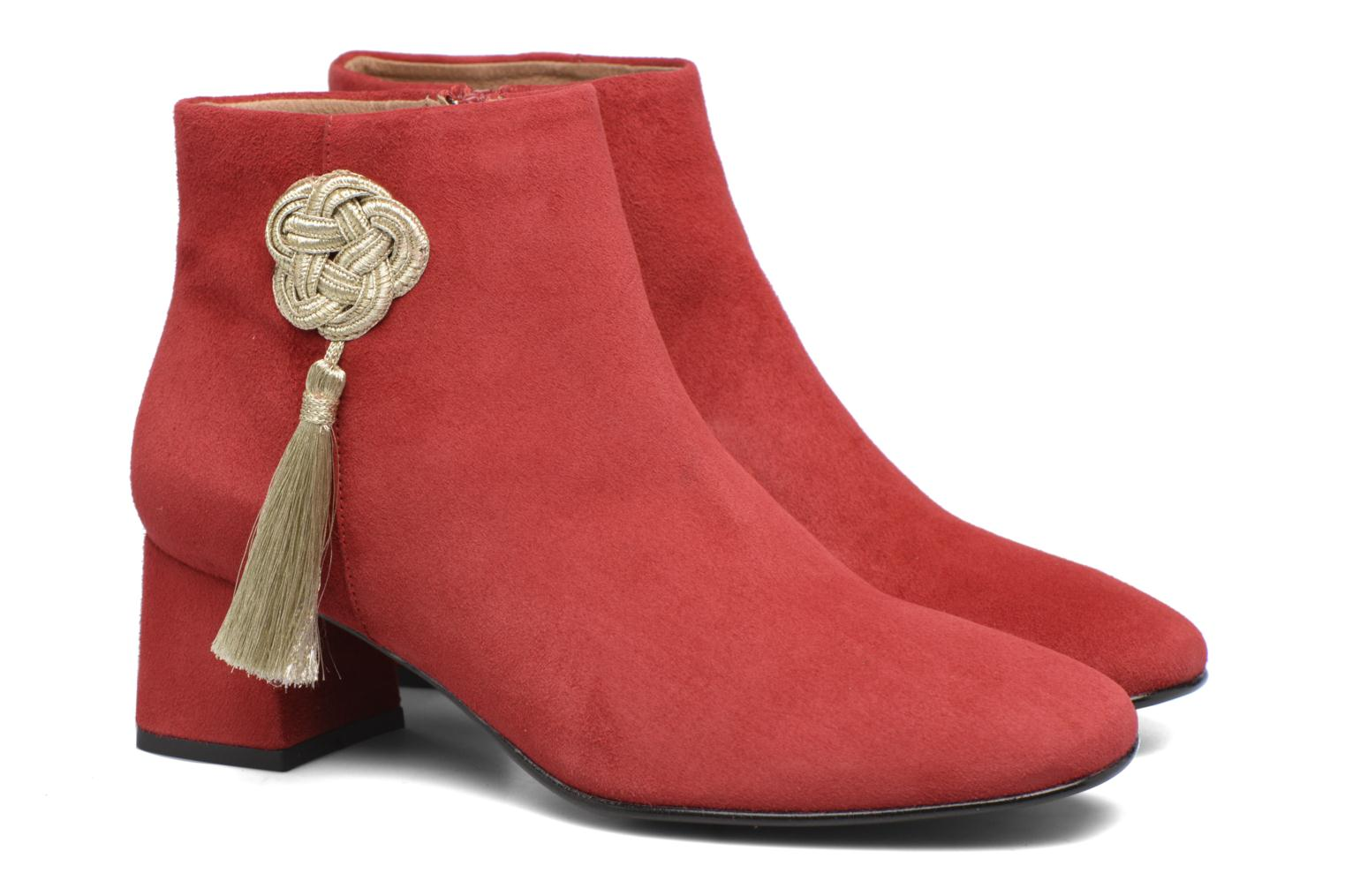 Ankle boots Made by SARENZA Boots Camp #3 Red back view