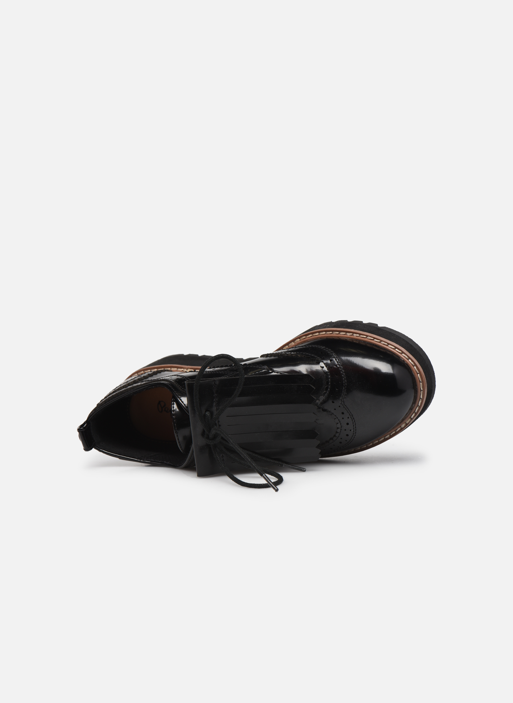 Zapatos con cordones Pepe jeans RAMSY tassel Negro vista lateral izquierda
