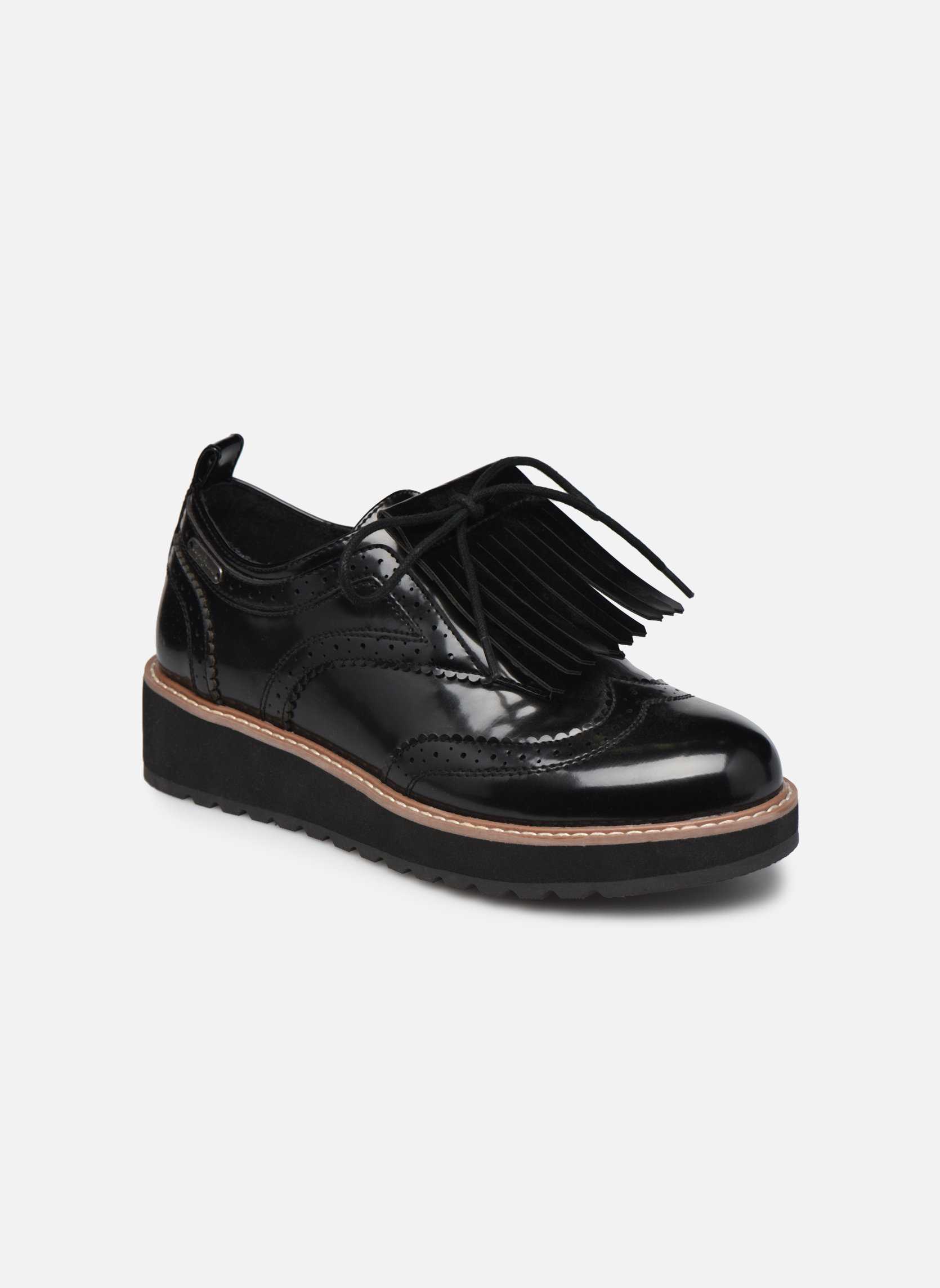Chaussures à lacets Pepe jeans RAMSY tassel Noir vue détail/paire