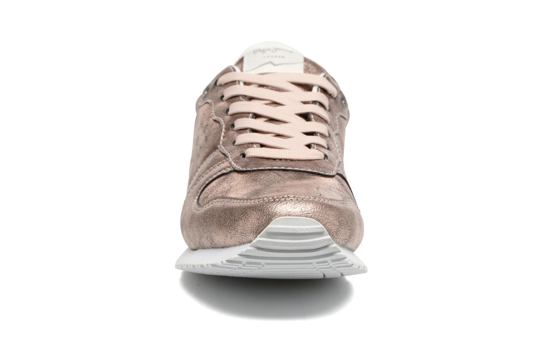 Baskets Pepe jeans Gable Plain Rose vue portées chaussures