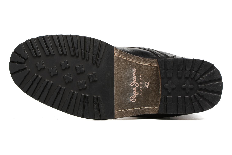 Bottines et boots Pepe jeans MELTING ZIPPER NEW Noir vue haut