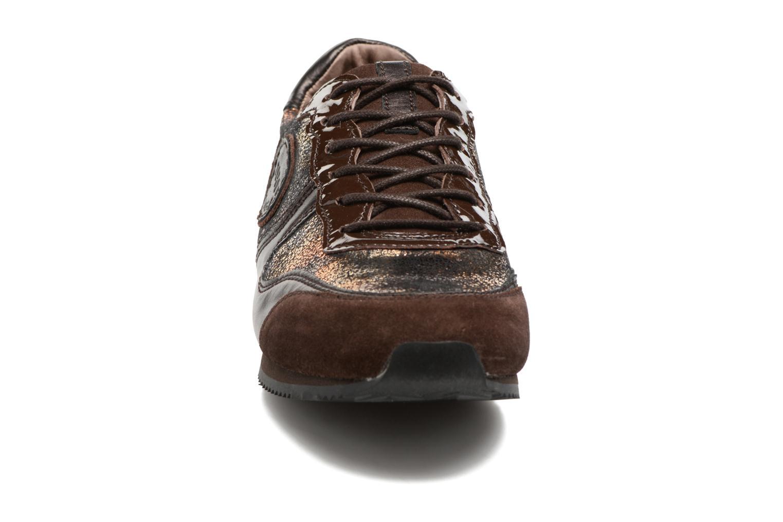Baskets Pataugas Idol/Ca Or et bronze vue portées chaussures