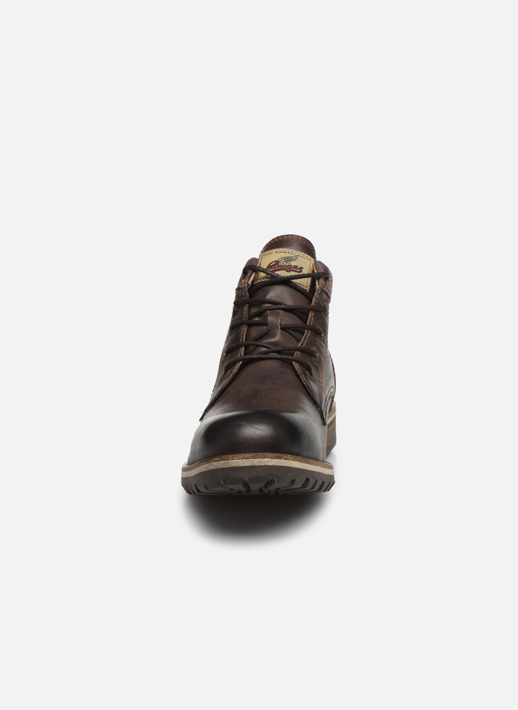 Bottines et boots Pataugas Thar Marron vue portées chaussures