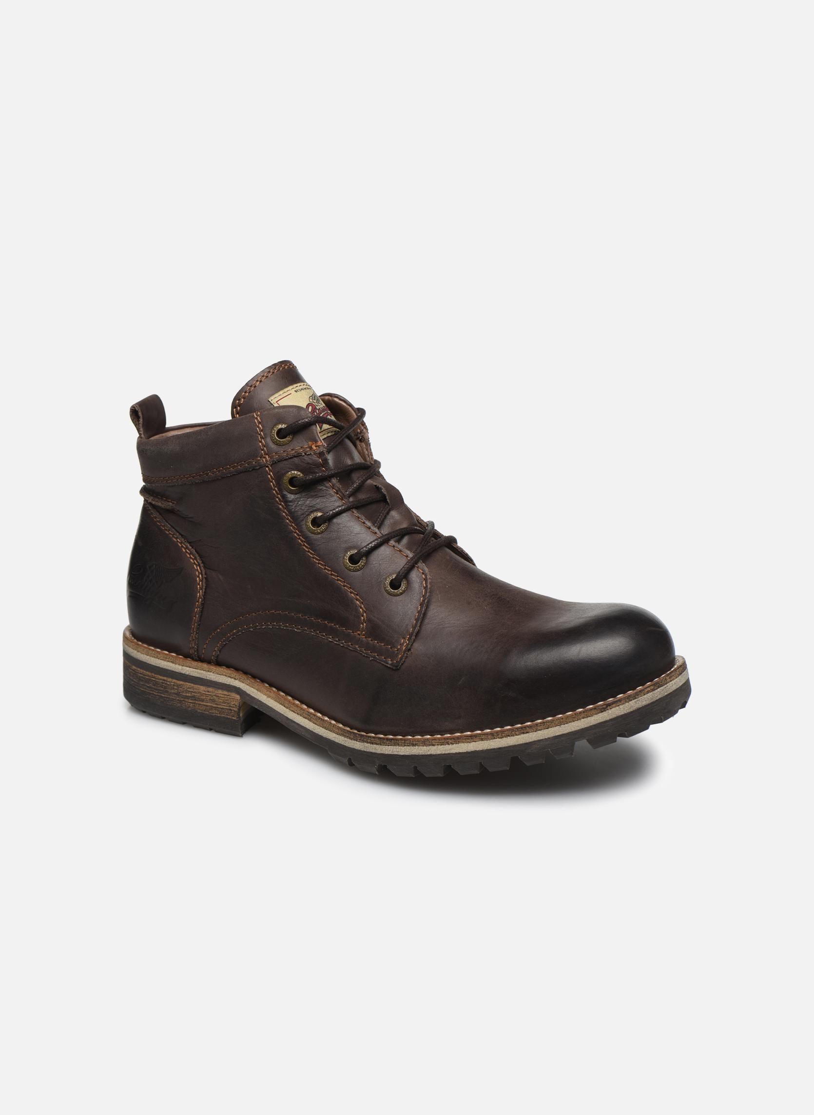 Bottines et boots Pataugas Thar Marron vue détail/paire