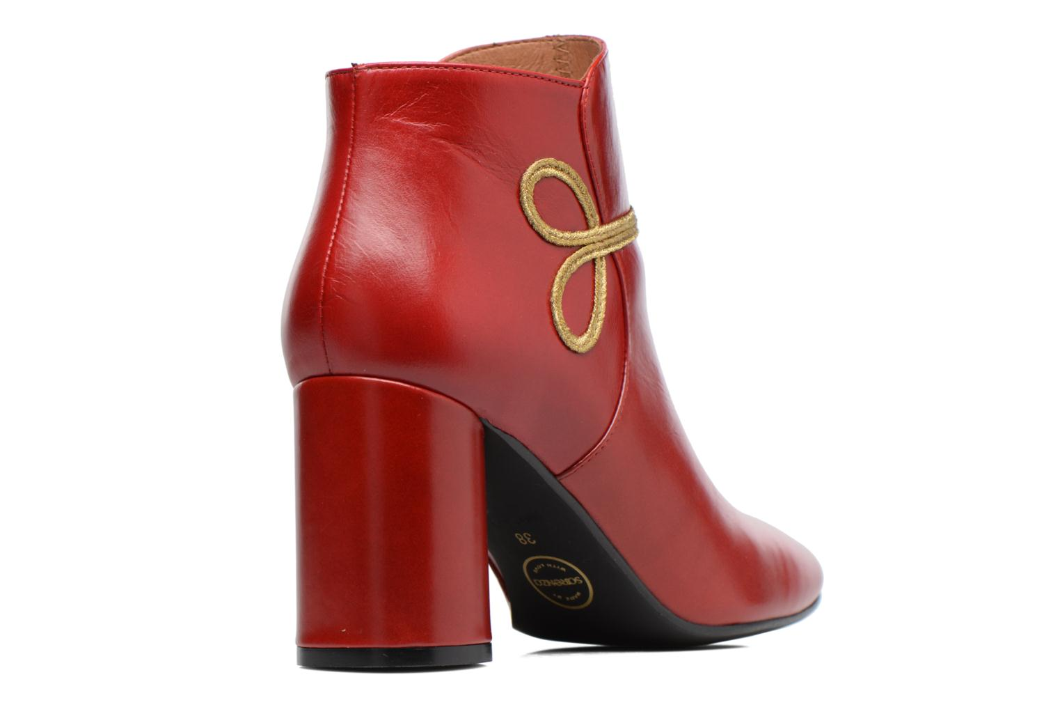 Boots Camp #14 cuir lisse rouge