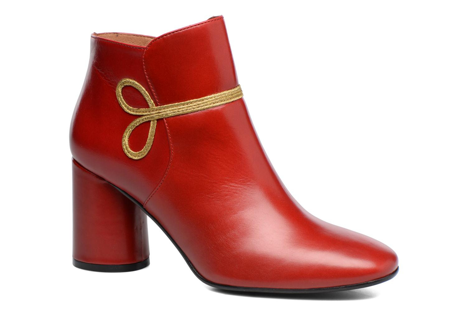 rouge Made cuir 14 by Camp lisse Boots SARENZA WqRUq0