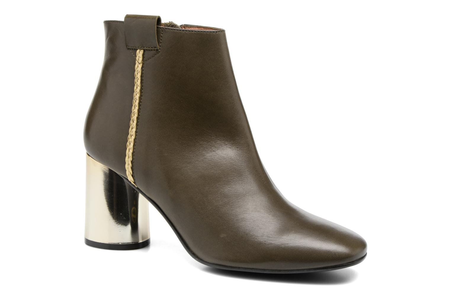 Kaki SARENZA Cuir Lisse Made Boots 16 Camp by Swy4qO0