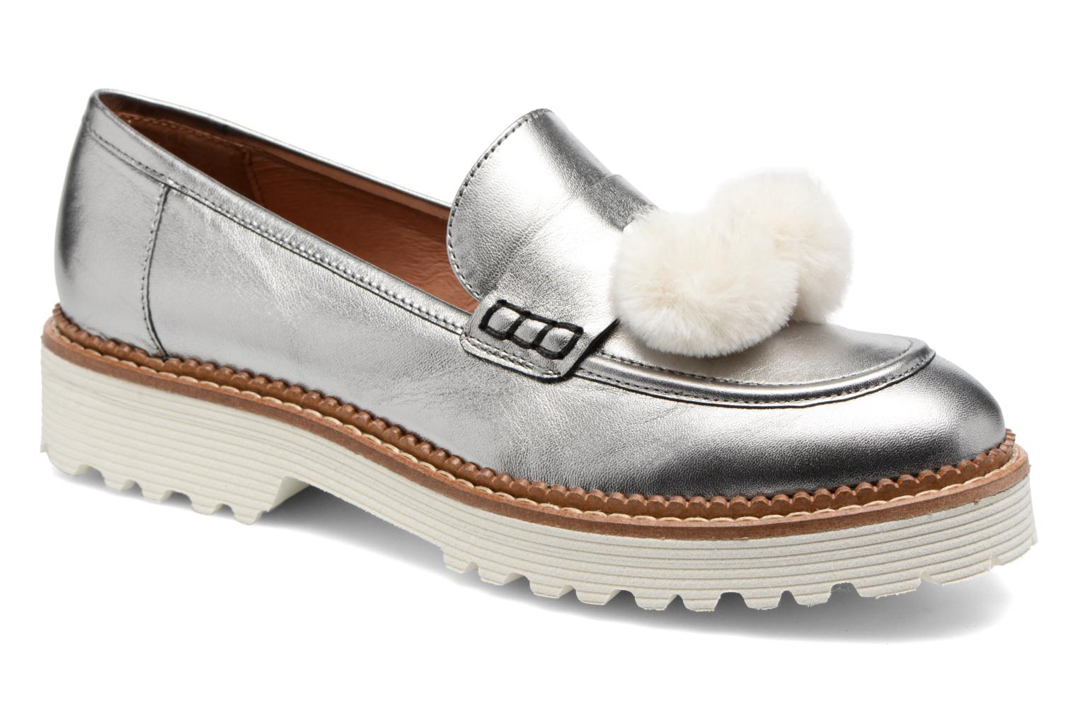 Loafers Made by SARENZA 90's Girls Gang Mocassins #4 Silver view from the right