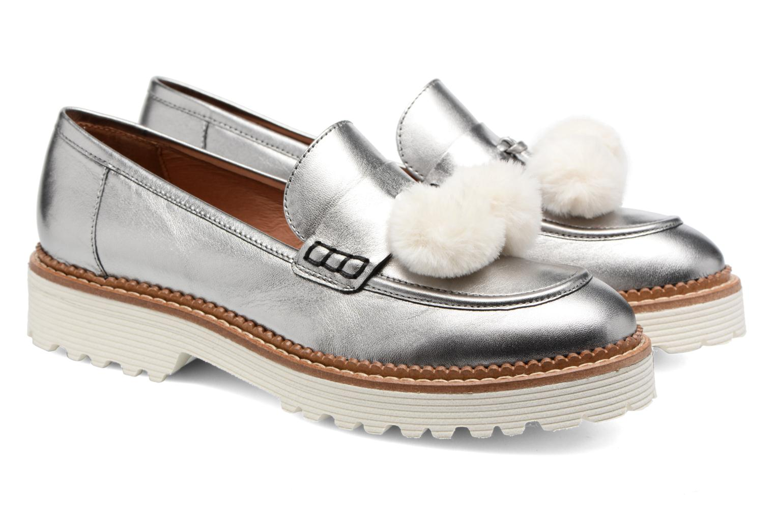 Loafers Made by SARENZA 90's Girls Gang Mocassins #4 Silver back view