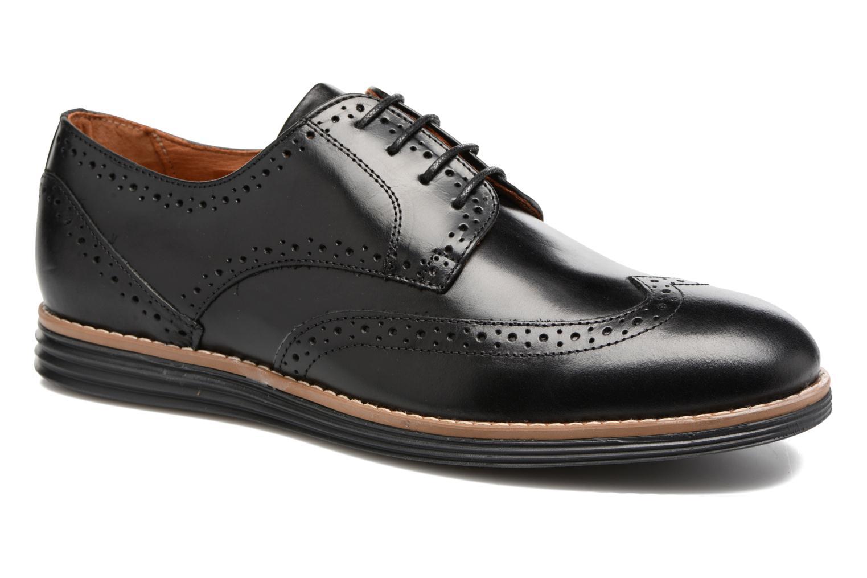 Chaussures à lacets Schmoove Prism Brogue Cliton Noir vue détail/paire