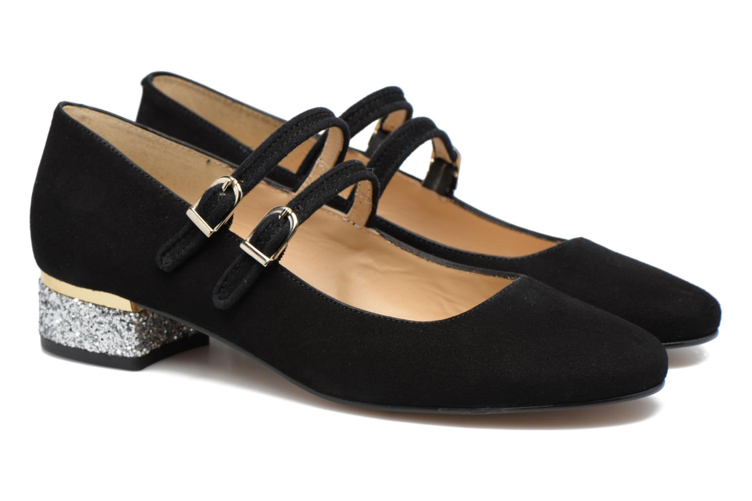 Ballet pumps Made by SARENZA Funtastic Chick #2 Black back view