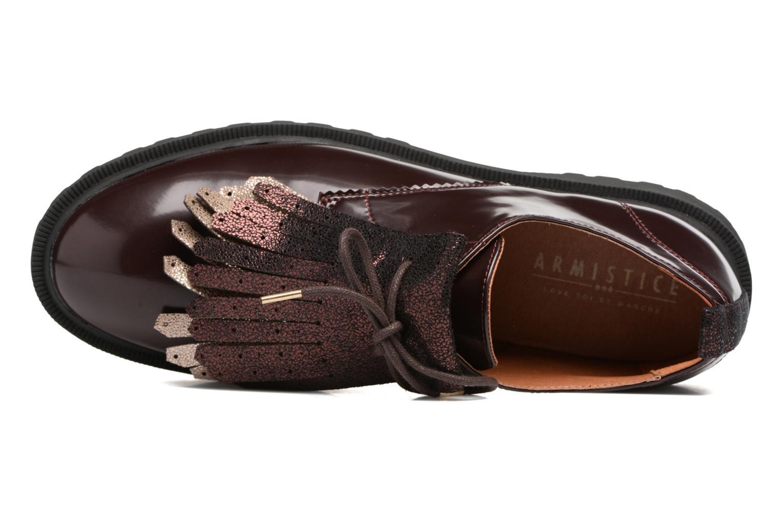 Chaussures à lacets Armistice Rock Derby Bordeaux vue gauche
