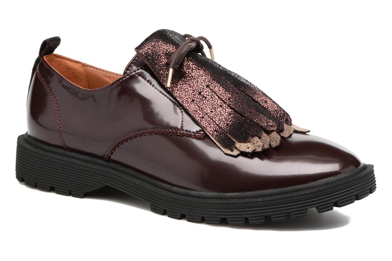 Lace-up shoes Armistice Rock derby Burgundy detailed view/ Pair view