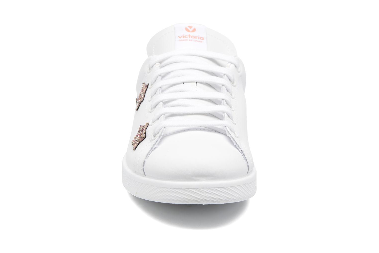 Baskets Victoria Deportivo Basket Aplicacion Blanc vue portées chaussures