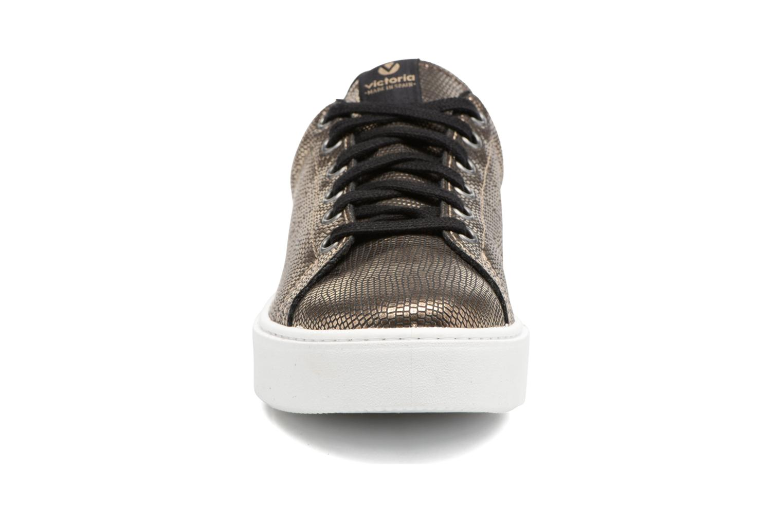 Baskets Victoria Deportivo Mantarraya Or et bronze vue portées chaussures