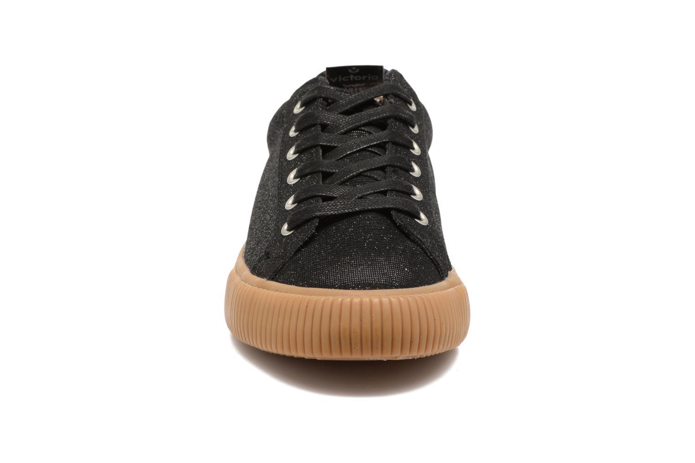 Baskets Victoria Deportivo Lurex Noir vue portées chaussures