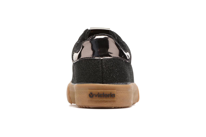 Sneakers Victoria Deportivo Lurex Zwart rechts