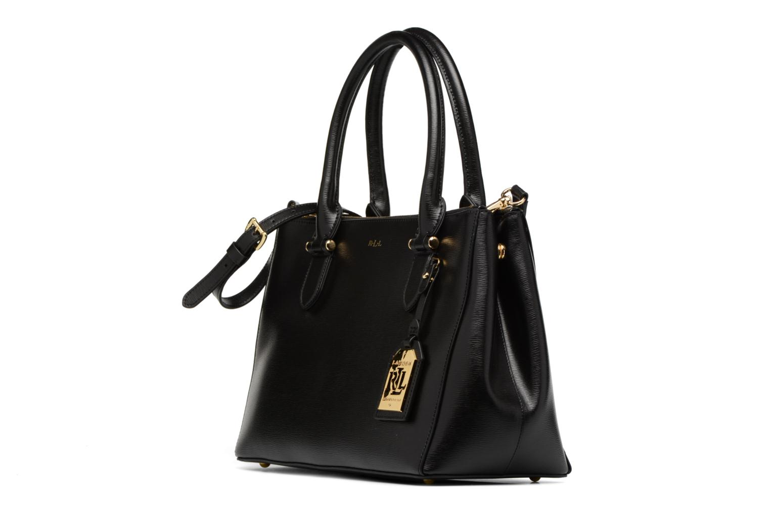 Newbury Double Zipper Shopper Black