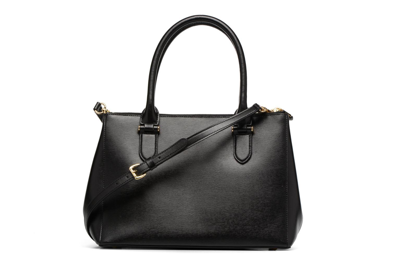 Handtassen Lauren by Ralph Lauren Newbury Double Zipper Shopper Zwart voorkant