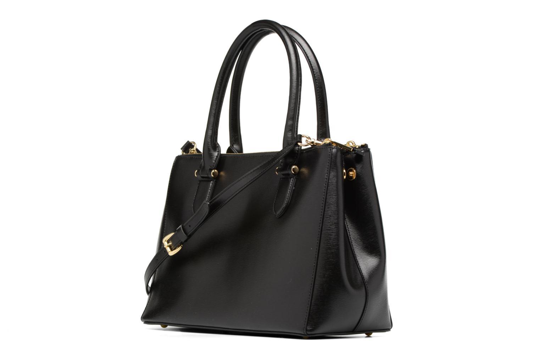 Handtassen Lauren by Ralph Lauren Newbury Double Zipper Shopper Zwart rechts
