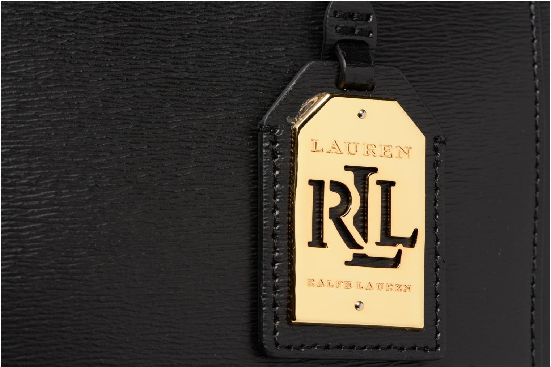 Handtassen Lauren by Ralph Lauren Newbury Double Zipper Shopper Zwart links
