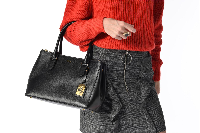 Newbury Double Zipper Shopper Black