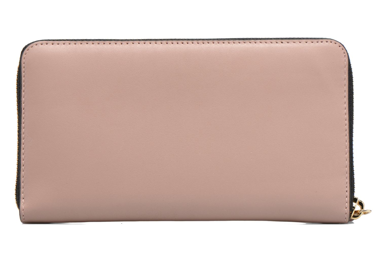 Petite Maroquinerie Karl Lagerfeld Kmetal Signature Zip Wallet Rose vue face