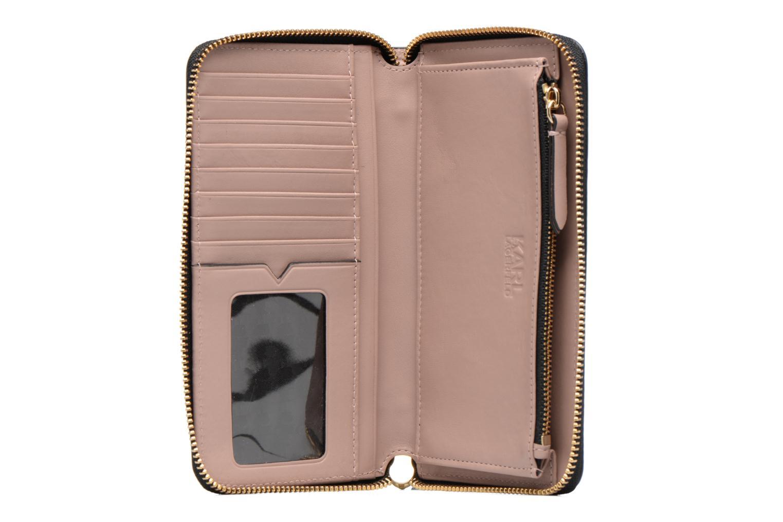 Petite Maroquinerie Karl Lagerfeld Kmetal Signature Zip Wallet Rose vue derrière