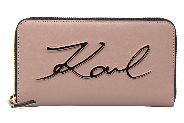 Petite Maroquinerie Karl Lagerfeld Kmetal Signature Zip Wallet Rose vue détail/paire