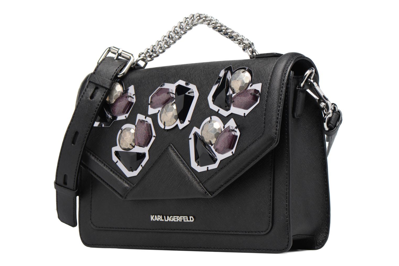 Sacs à main Karl Lagerfeld Klassik Diamond Shoulder bag Noir vue portées chaussures