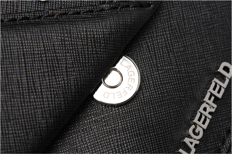 Sacs à main Karl Lagerfeld Klassik Diamond Shoulder bag Noir vue gauche